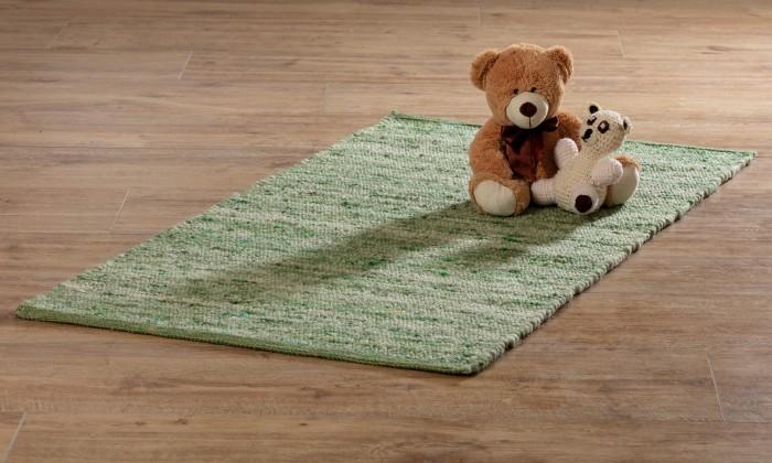 Handgewebter Kinderteppich aus Schurwolle
