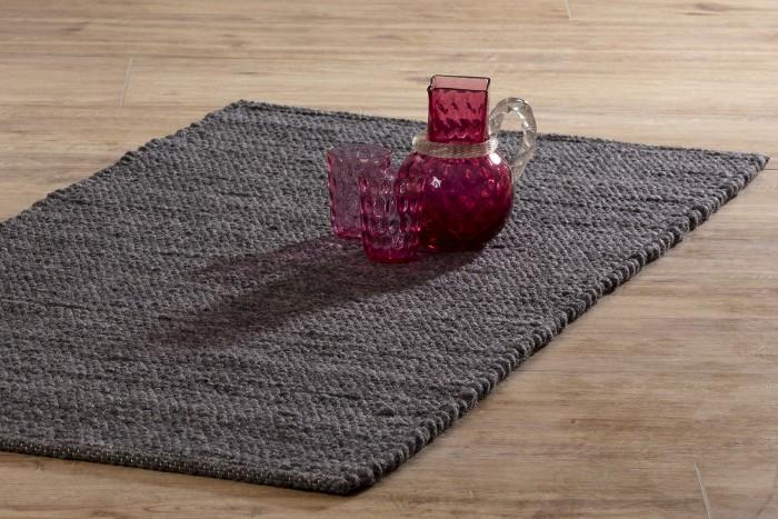 Grauer Handwebteppich Allgäu