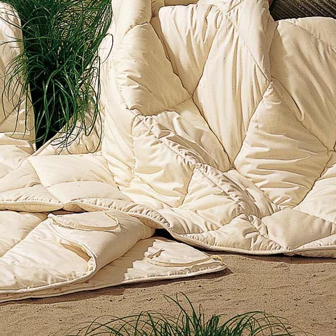 Kombidecke Seide und Baumwolle