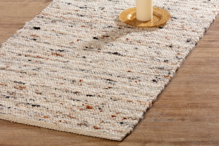 Handwebteppich Borkum aus Heidschnuckenwolle